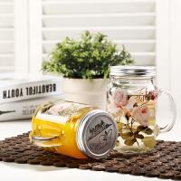 Evergreen爱屋格林公鸡杯带盖创意玻璃水杯梅森杯子啤酒杯玻璃杯大容量0.8L