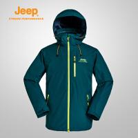 Jeep/吉普 男秋冬冲锋衣三合一户外登山运动服J652010676