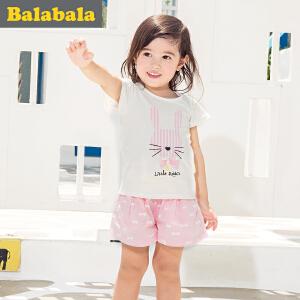 【6.26巴拉巴拉超级品牌日】巴拉巴拉女童套装卡通小童宝宝童装夏装儿童短袖短裤两件套女