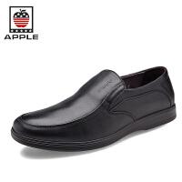 苹果Apple牛皮套脚男鞋正装鞋皮鞋婚鞋3283009