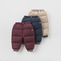 davebella戴维贝拉 男童冬季保暖羽绒裤 宝宝加厚羽绒裤子