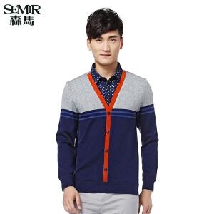 森马毛针织衫 春季新款舒适休闲假两件长袖针织衫