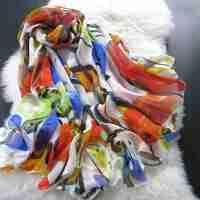 2015春秋女士桑蚕丝保暖围巾 女式时尚长款披肩 秋冬真丝雪纺丝巾