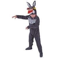 春秋季表演装  冬跳舞蹈衣 大灰狼动物造型儿童演出服女服套装男
