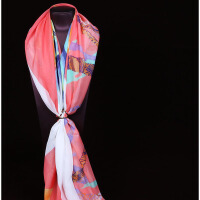 女士春秋冬季丝大方巾纯桑蚕丝围巾披肩两用送妈妈生日礼物