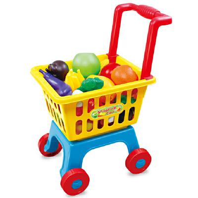儿童购物车大号超市手推车玩具幼儿园过家家玩具蔬菜水果套装