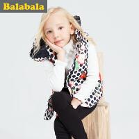 巴拉巴拉童装女童马甲中大童上衣冬装儿童时尚无袖背心