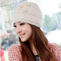 女 冬天 韩版秋冬季毛线 兔毛 可爱帽子 毛呢贝雷帽子