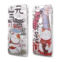 【全国包邮】hidog 苹果6plus手机壳卡通招财猫浮雕软胶iPhone6splus保护套防摔