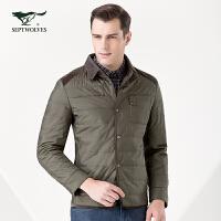 七匹狼 休闲保暖棉服 青年男士衬衫棉服 品质保暖 7082921