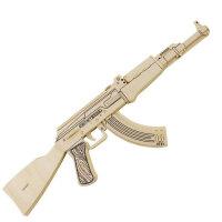 若态科技 3D木质立体拼图积木拼插 军事仿真武器 突击手枪 突击步枪 手枪冲锋枪JZ404