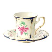 YAMI骨质瓷咖啡杯 标准单品咖啡杯碟 大玫瑰花茶杯子 套装 150ml