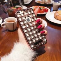 【包邮】优品 高贵女神苹果6s手机壳菱形iPhone6plus电镀水钻4.7保护