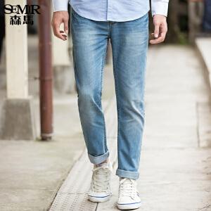 森马水洗牛仔裤 春装 男士中低腰小直筒长裤韩版男装 潮