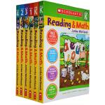 【英文原版】Scholastic Reading And Math Jumbo Workbook 阅读数学练习册 4册合售