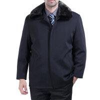 2015时尚冬装男士中长款尼克服水貂毛领大码獭兔内胆皮草棉服棉衣