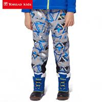 探路者童装 男童冬季套绒冲锋裤