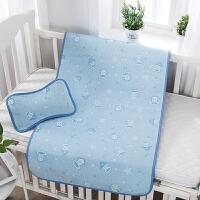 婴儿凉席冰丝新生儿宝宝凉席夏婴儿床儿童凉席幼儿园两件套
