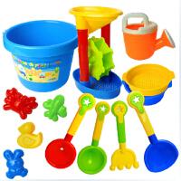儿童沙滩玩具套装 大号13件 沙漏玩具 挖沙子铲子工具 宝宝戏水玩具