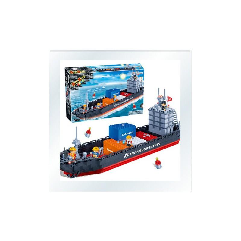 邦宝正品益智拼装积木 儿童拼插塑料积木玩具 轮船货船 6岁以上