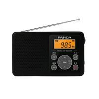 【当当自营】 熊猫/PANDA 6105 收音机老人迷你便携式随身听袖珍式半导体 黑色