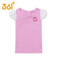 361度童装正品夏季女童短袖T恤夏装圆领儿童淑女针织短袖上衣