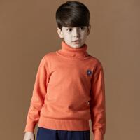 2017冬新款男童毛衣套头高领儿童装中大童针织衫学生纯色打底衫小孩韩版针织毛衣1501