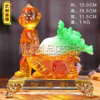 猴年吉祥工艺品财运到生肖猴子摆件生日贺寿礼品定制纪念品 创意礼品