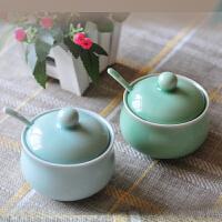 陶瓷故事 龙泉青瓷调味罐 创意调味瓶健康清新盐罐子 梅子青