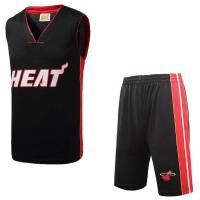 运动休闲训练篮球服薄款迈阿密热火队透气舒适篮球跑步服套装男款