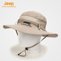 【全场2.5折起】Jeep/吉普 中性遮阳盆帽夏季遮脸防紫外线户外沙滩帽J651060004