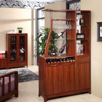 御品工匠 实木酒柜 隔断柜玄关 间厅 储物柜 北欧家具 k-0712