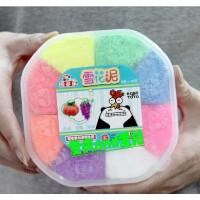 纷多乐雪花泥 8色珍珠泥 珍珠颗粒粘土3D彩泥套装 宝宝益智玩具