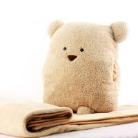 礼无忧 可爱熊多用毯 多功能抱枕毯空调毯子 创意礼物 生日礼物送女生女友暖心 礼品