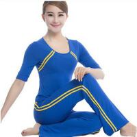 阳光2015春夏瑜伽服短袖健身服大码显瘦 广场舞服装套装