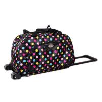 防水布料圈点男女款旅行拉杆包旅行包手提行李箱包旅游用品