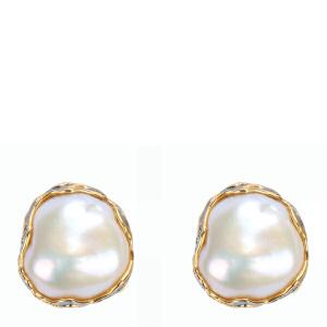 戴和美珠宝首饰耳饰 精选异形珍珠镶嵌耳钉