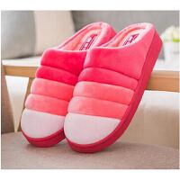 潮路思棉拖鞋半包跟厚底秋冬季男女居家拖鞋室内地板保暖鞋防滑男女款1712