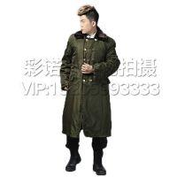 中老年军大衣户外出行保暖男士加厚加长款保安执勤服棉袄军大衣外套冬季防寒服保安值班棉大衣