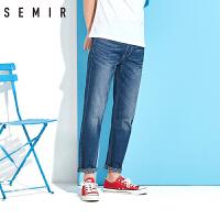 森马小脚牛仔长裤 2017夏装新款 男士学生韩版复古水洗弹力修身裤