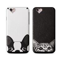 【全国包邮】hidog 苹果iPhone6s手机壳个性卡通猫狗6 plus保护套软硅胶潮新款