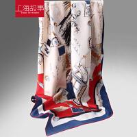 斜纹加密桑蚕丝大方巾韩版女夏季韩国披肩百变新款围巾百搭丝巾