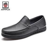 苹果Apple套脚皮鞋头层皮软底男鞋 2016新款减震防滑英伦商务休闲鞋5261010