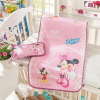 童席两件套婴儿凉席冰丝新生儿宝宝凉席婴儿床凉席儿童凉席幼儿园送凉枕头