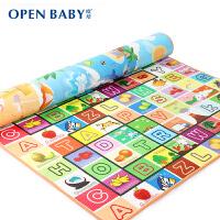 欧培 宝宝婴儿童加厚游戏垫 单双面爬行垫 环保爬爬垫 水果字母+沙滩海洋
