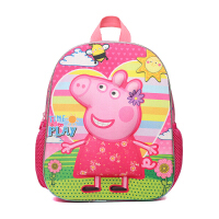 XYX 可爱小猪佩奇男女儿童毛绒书包1-6岁佩佩猪粉红猪幼儿园双肩背包