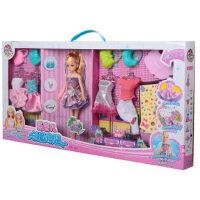 乐吉儿洋布芭比娃娃套装大礼盒   手工diy布偶女孩玩具