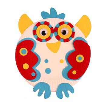 幼儿园手工自制纸盘动物材料包儿童diy制作创意礼物礼品多款单个