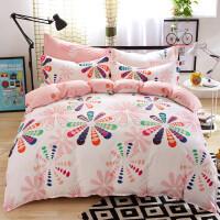 晶丽莱纯棉斜纹四件套全棉床上用品床单式件套