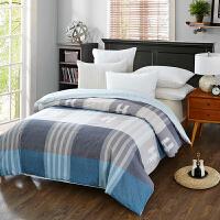 当当优品 纯棉斜纹床上用品 被罩 150*220cm  蓝调空间(蓝)